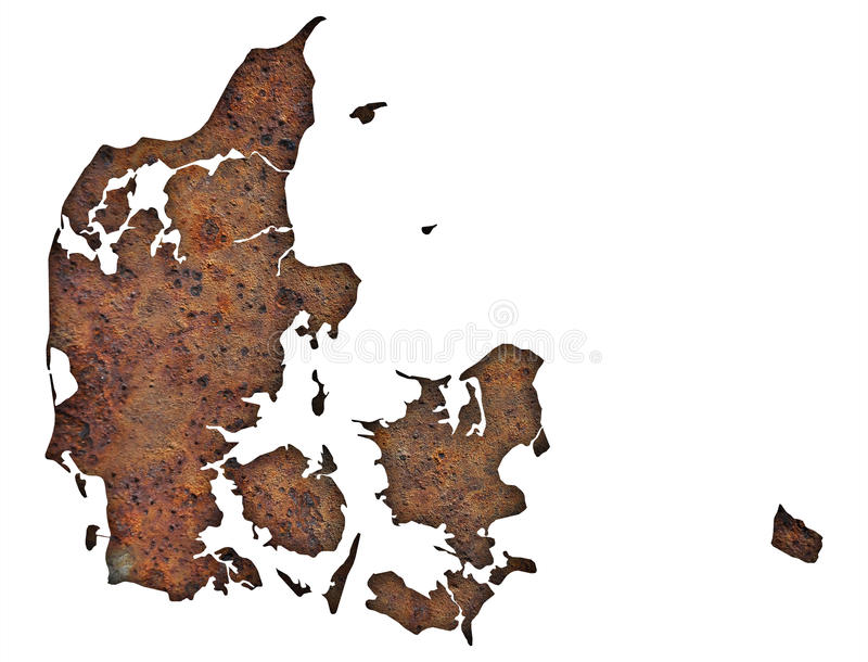丹麦映射 库存图片