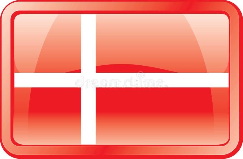 丹麦标志图标 向量例证