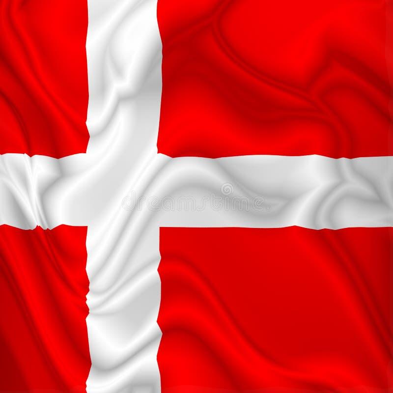 丹麦沙文主义情绪的数字式丝绸缎织品 皇族释放例证
