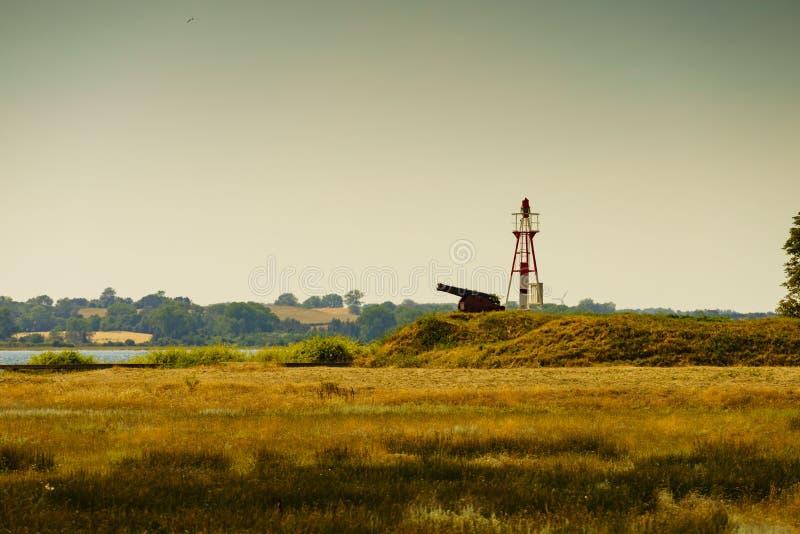 丹麦沿海风景 图库摄影