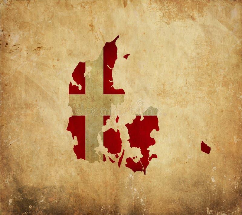 丹麦的葡萄酒地图难看的东西纸的 免版税图库摄影