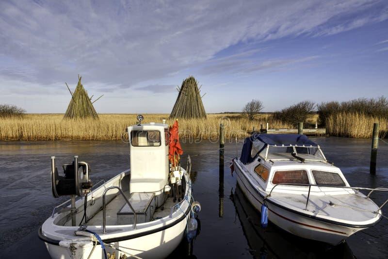 丹麦的西部部分的Stauning港口 库存照片