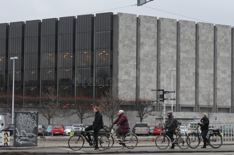 丹麦的NANTIONAL银行在哥本哈根丹麦 图库摄影