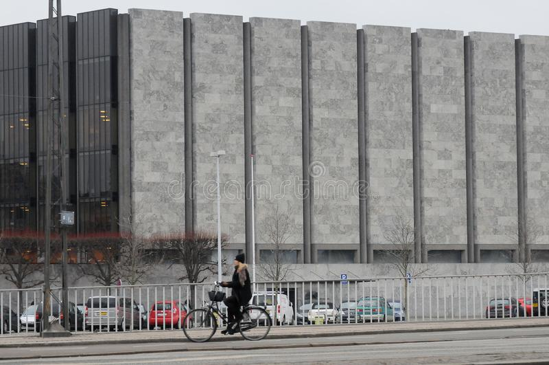 丹麦的NANTIONAL银行在哥本哈根丹麦 免版税库存照片