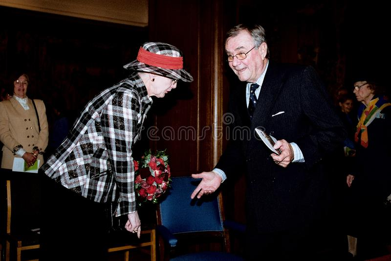 丹麦皇家COUPLE_QUEEN MARGRETHE_PRINCE亨利 图库摄影