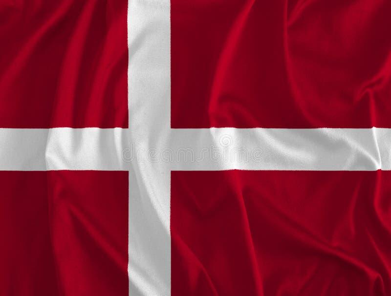 丹麦背景旗子  库存例证
