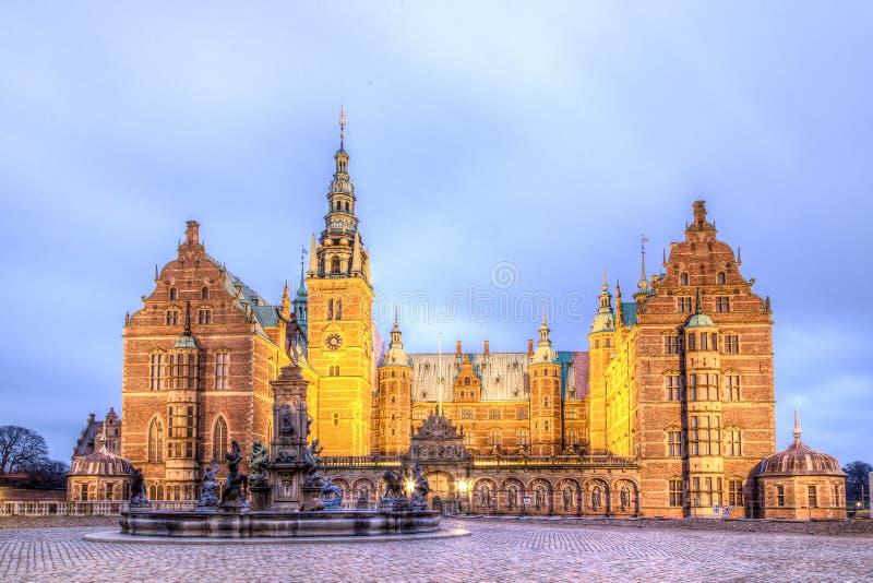 丹麦菲特列堡希勒勒宫殿 库存图片