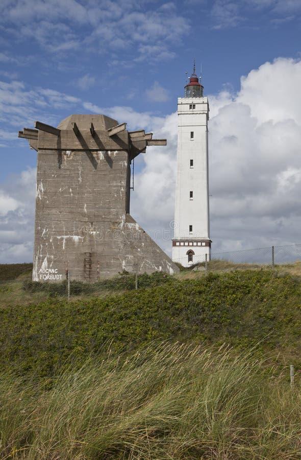 丹麦西海岸在Jutland 免版税库存图片