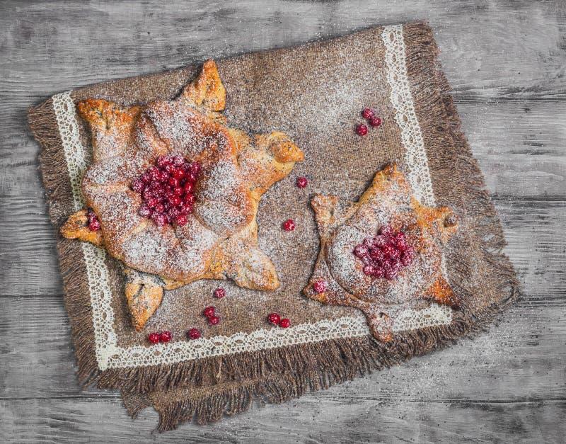 丹麦语甜酥皮点心的小圆面包 免版税库存图片
