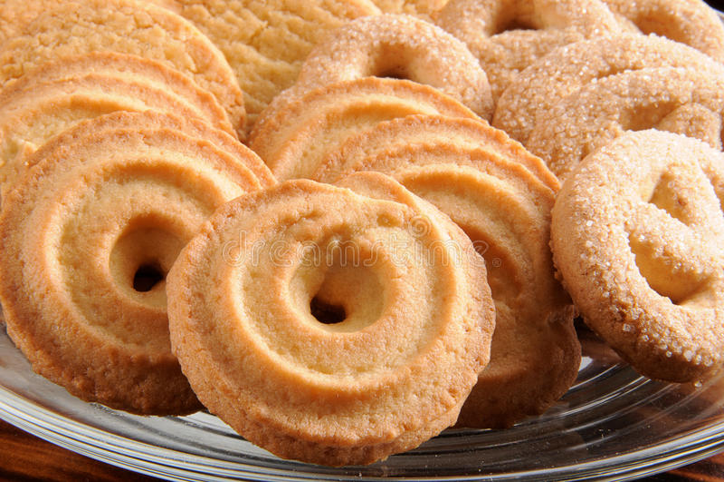 丹麦语的黄油曲奇饼 库存图片