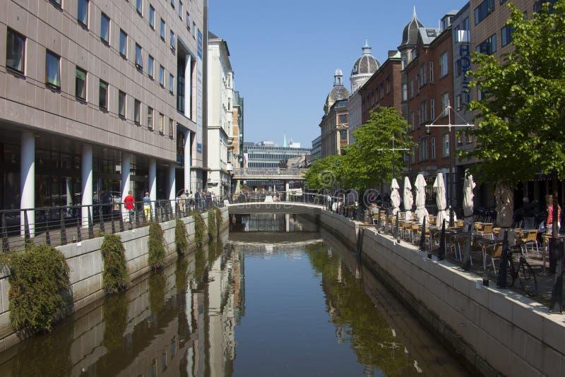 丹麦,奥尔胡斯市 免版税库存图片