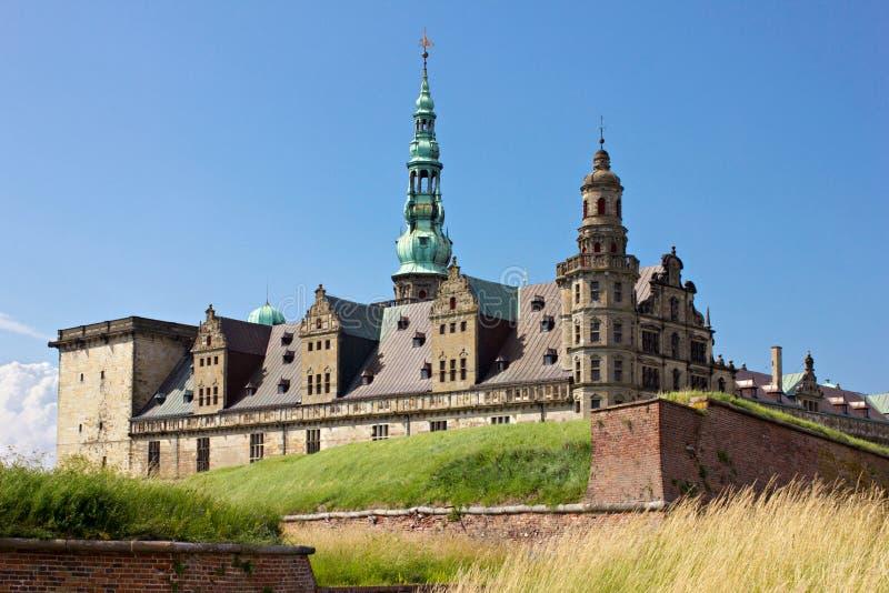 丹麦,小村庄城堡。Kronborg 免版税图库摄影