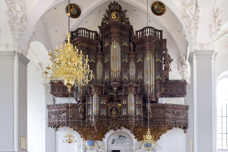 丹麦-西兰地区-哥本哈根-巴洛克式的新教徒Churc 免版税库存照片