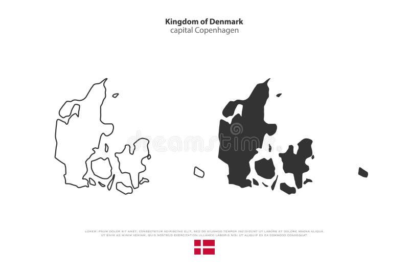 丹麦 向量例证