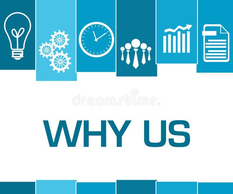 为什么我们蓝色条纹标志 向量例证