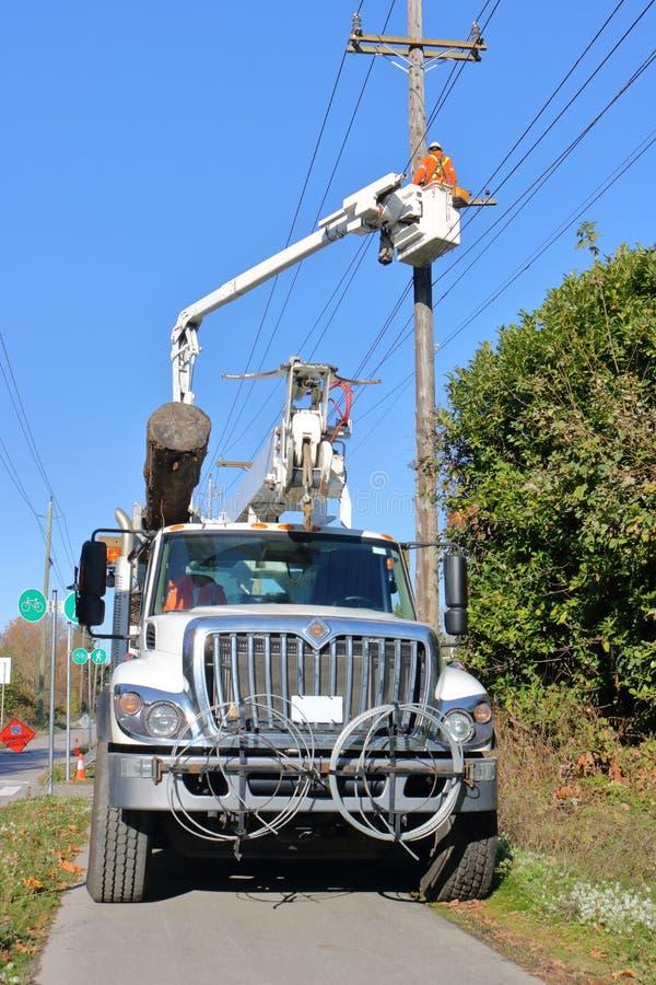 为修理电线使用的设备 免版税库存图片