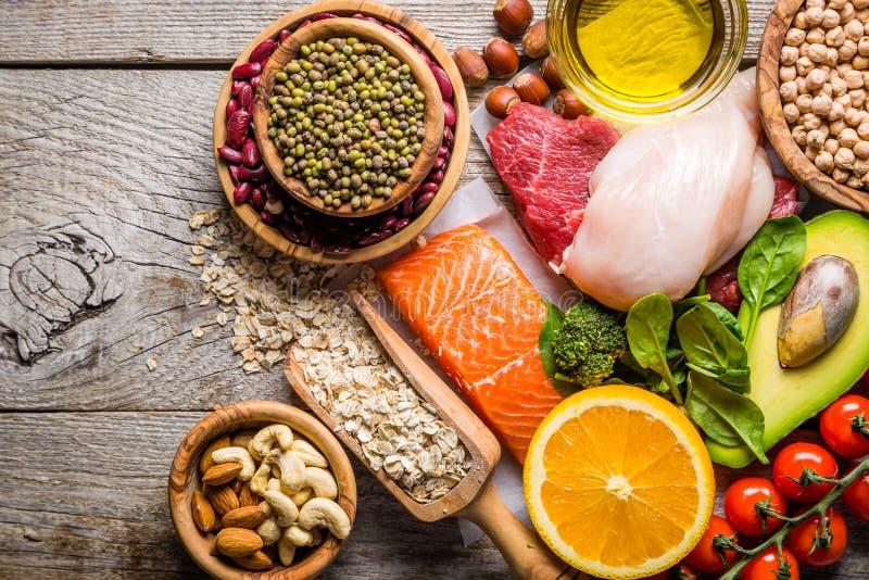为健康和皮肤是好食物的选择 免版税库存照片
