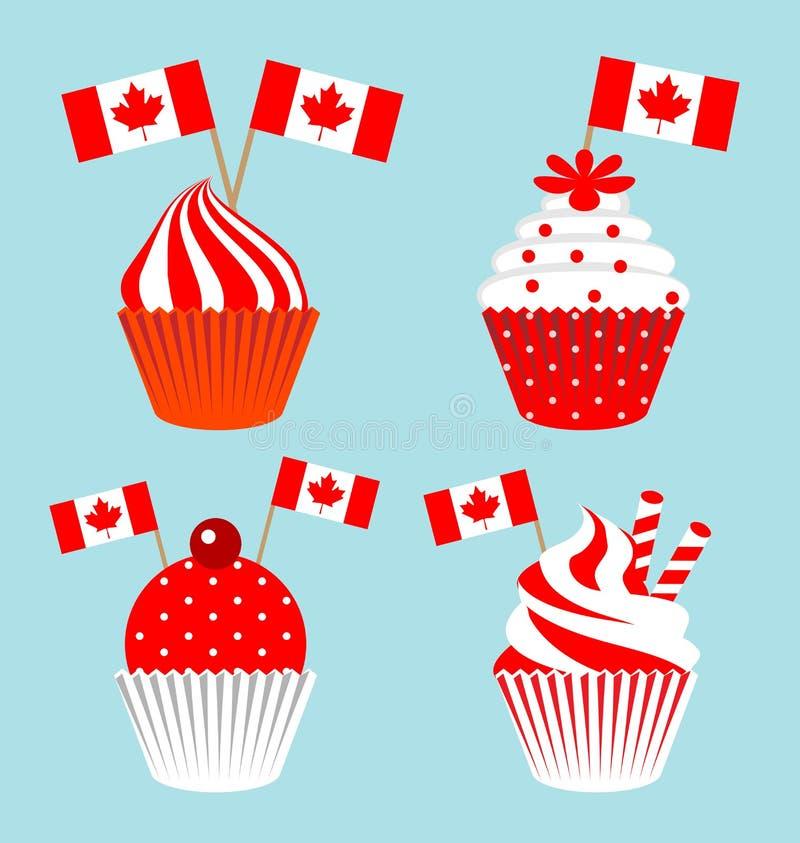 为加拿大的国庆节杯蛋糕 皇族释放例证