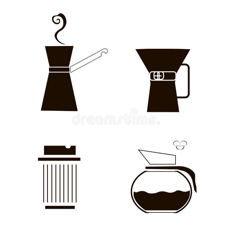 为咖啡设置 皇族释放例证