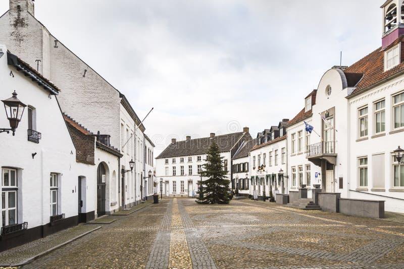 为它的白色房子已知的刺历史的城市 免版税库存图片