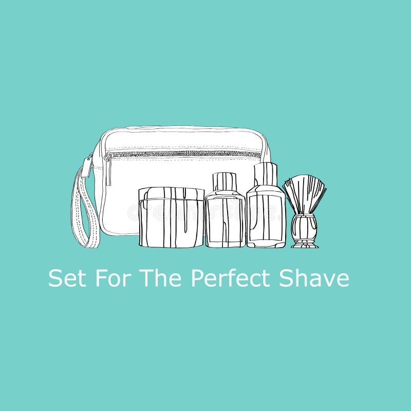 为完善的刮脸设置 向量例证