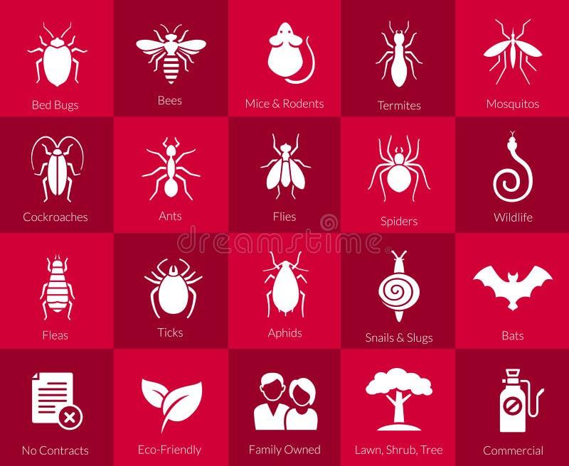 为害虫控制公司设置的象 向量例证