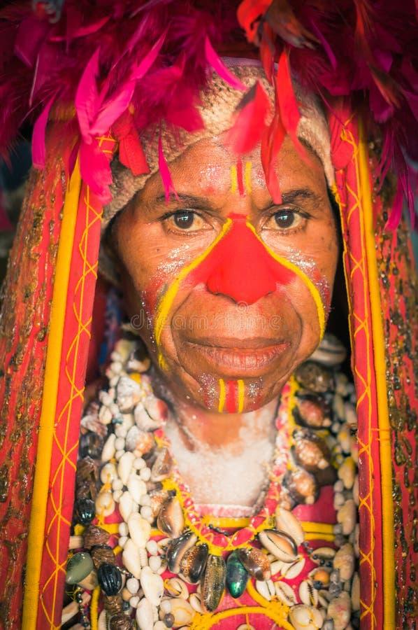 为展示做准备在巴布亚新几内亚 免版税库存图片