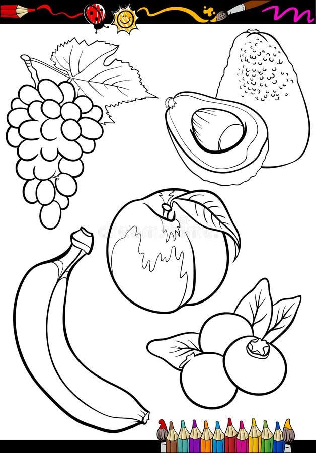 为彩图设置的动画片果子 皇族释放例证