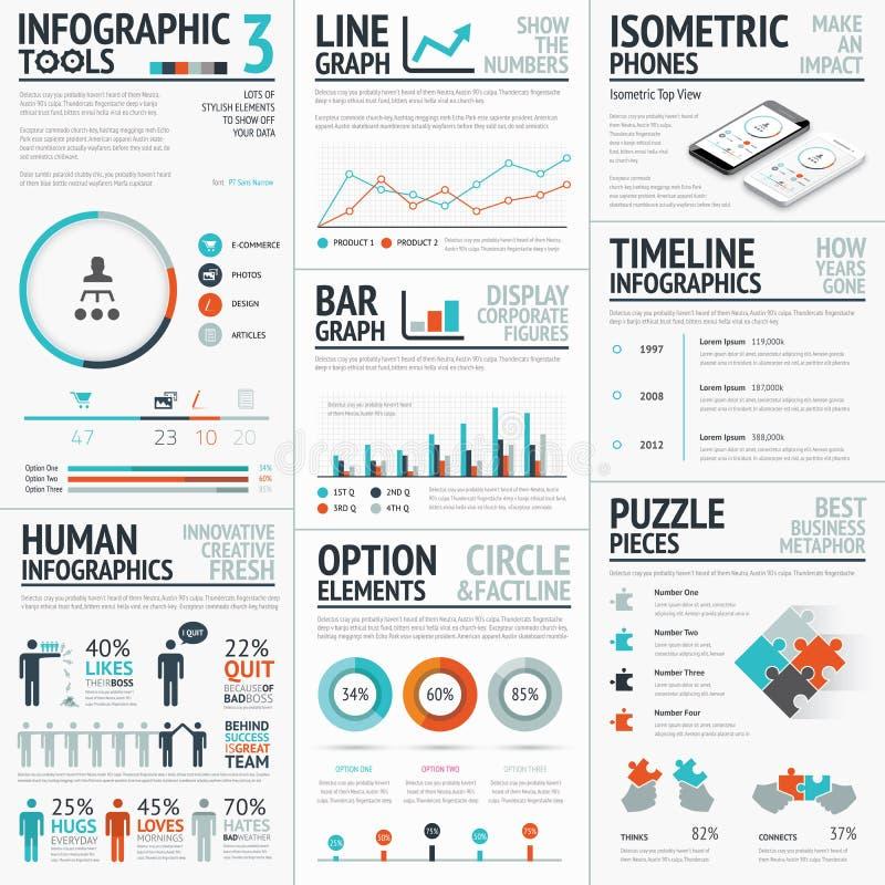 为您设置的惊人的infographic元素传染媒介  向量例证