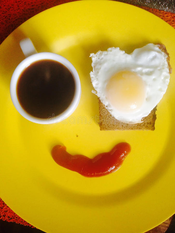 为我心爱的人烹调的早餐 库存图片