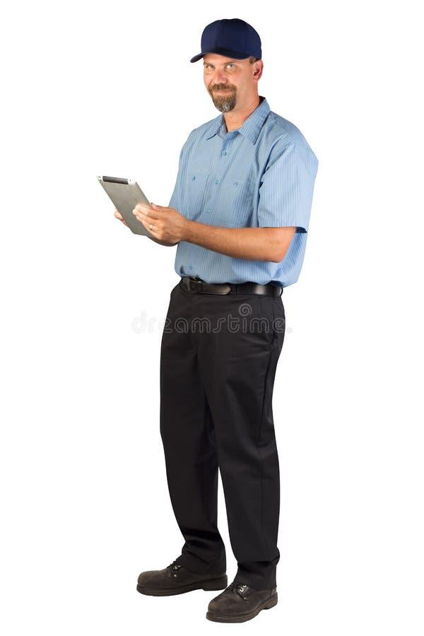 为接受命令的技术员服务 免版税库存照片