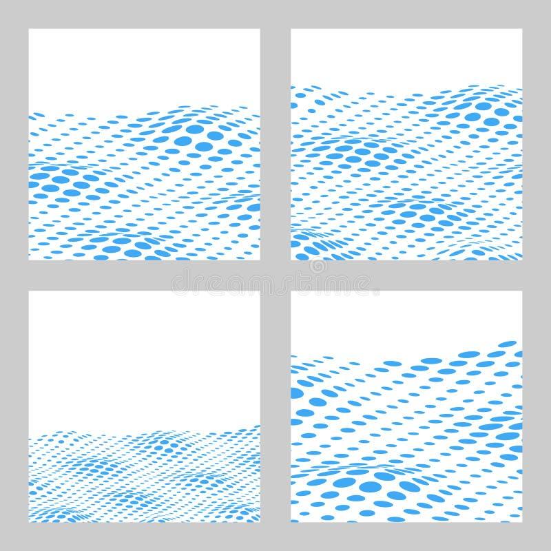为文本设置的波浪半音背景 卡片,横幅模板 Ve 库存例证