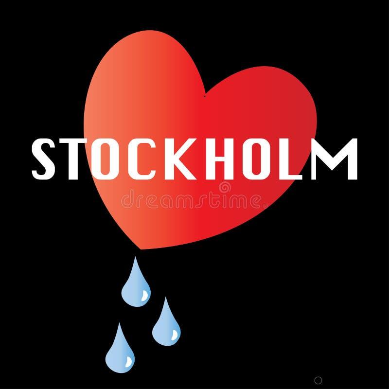 为斯德哥尔摩祈祷 库存例证