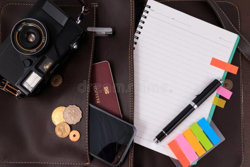 为旅行做准备,旅行,旅行假期,特写镜头的旅游业嘲笑 空的空间您能安置您的文本或信息 免版税图库摄影
