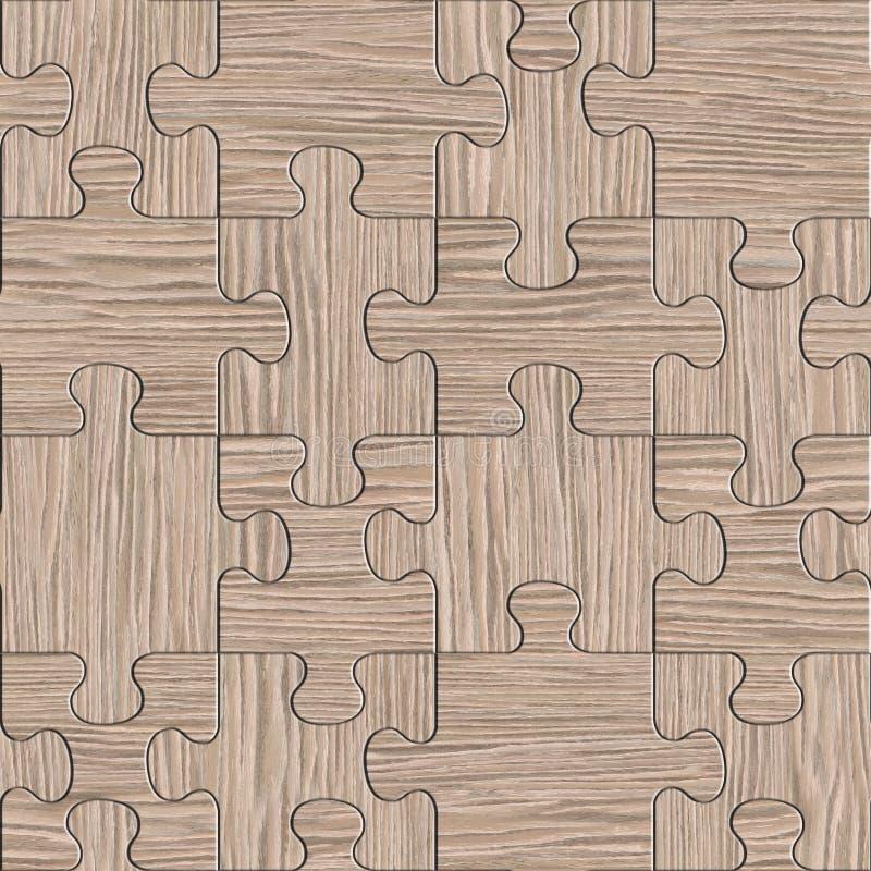 为无缝的背景装配的木难题-被炸开的橡木 向量例证