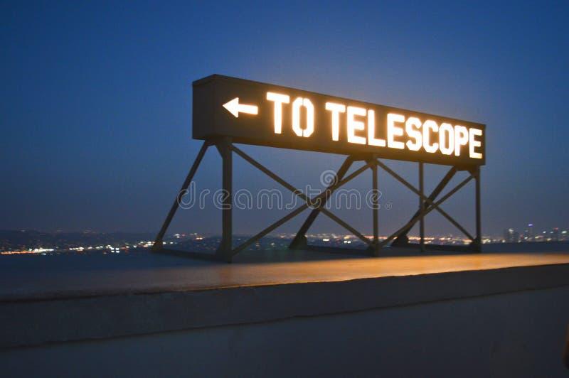 为格里菲斯天文台的望远镜 库存图片