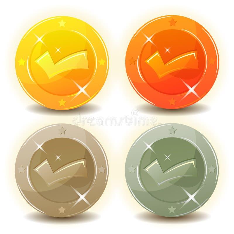 为比赛接口设置的信用硬币 皇族释放例证