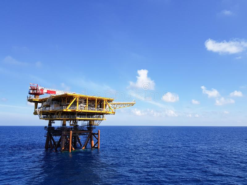 为石油生产准备 库存照片