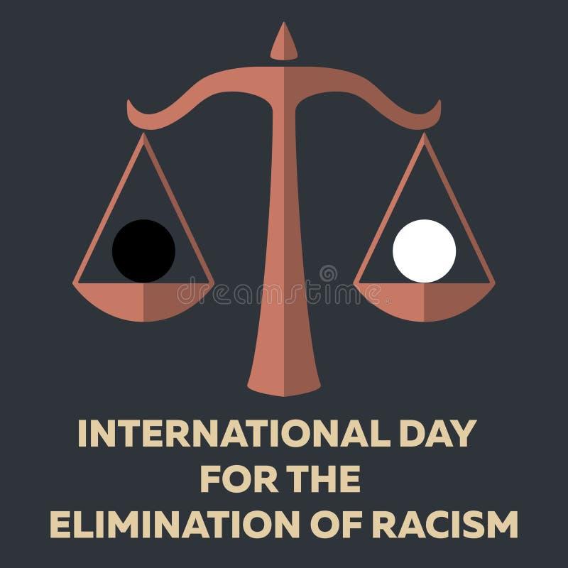 为种族主义的排除的国际天导航最小的概念 库存例证