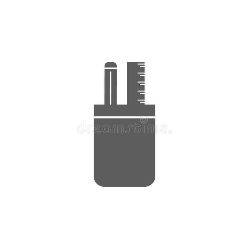 为笔象杯 教育象的元素 优质质量图形设计象 标志,概述标志网的汇集象 皇族释放例证