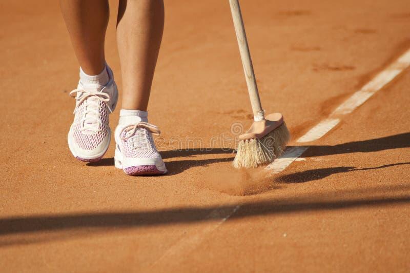 为网球服务 库存图片