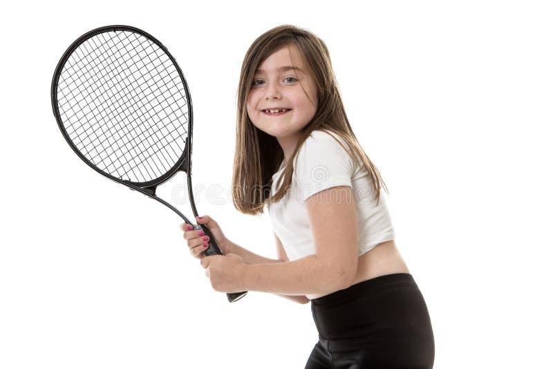 为网球比赛准备 免版税库存图片