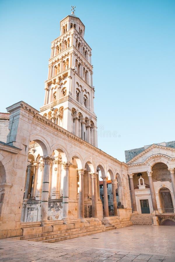 为罗马帝国皇帝建造的古老宫殿Diocletian -分裂,克罗地亚 库存图片