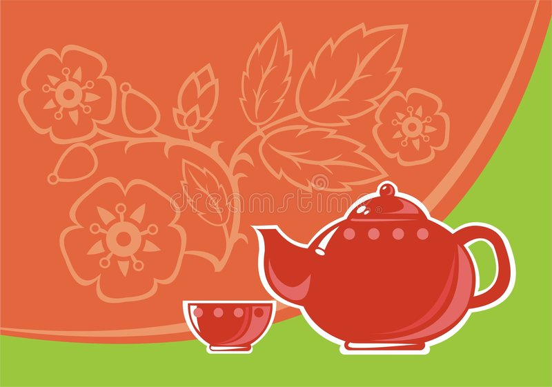 为茶服务 向量例证