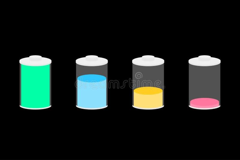为设计设置的电池象 库存例证