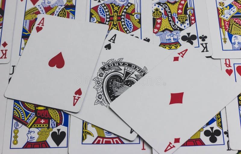 为赌博使用的游戏卡 免版税库存照片