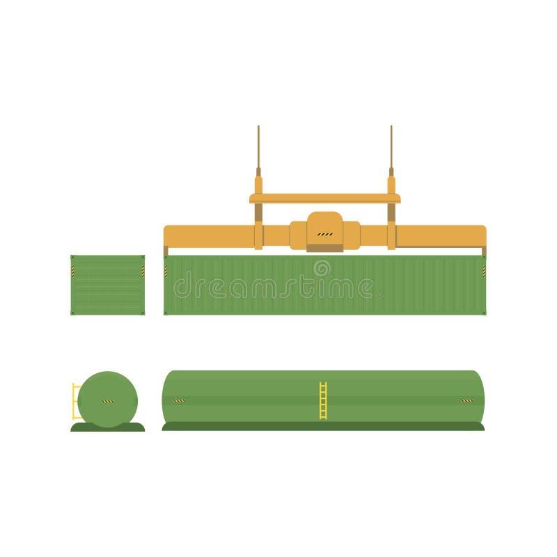 为运输和后勤学设置 库存例证