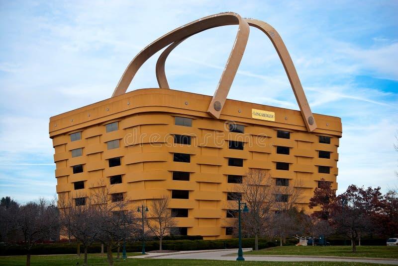 basket Shaped Longaberger Company家庭办公室 库存照片