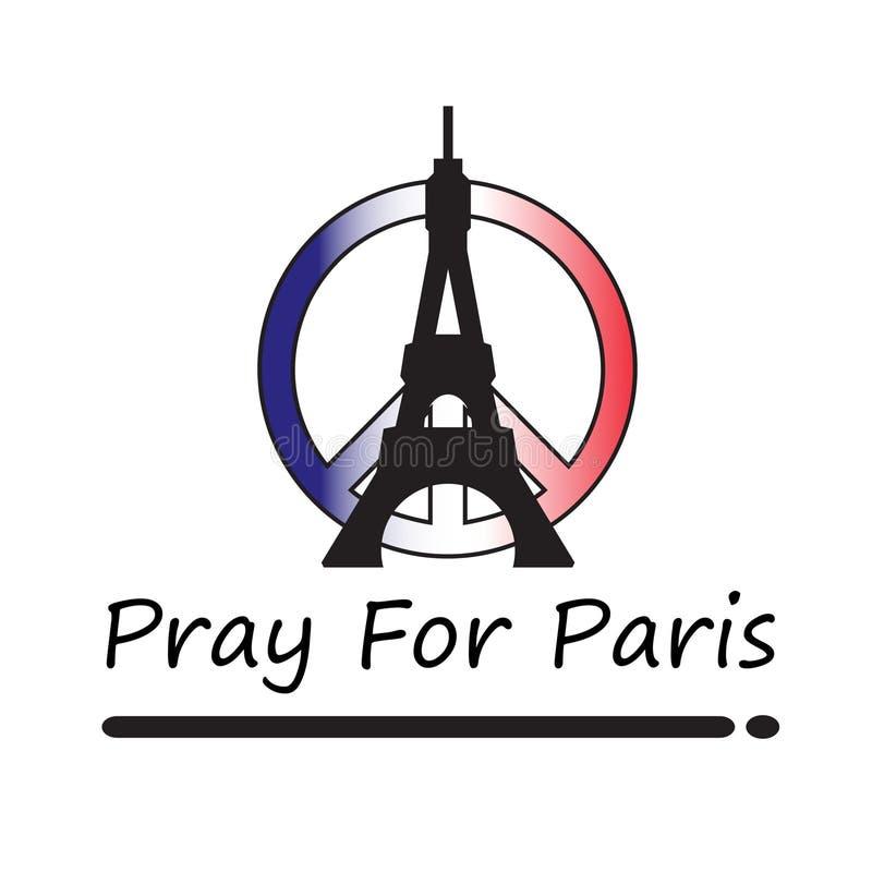 为巴黎祈祷 库存照片