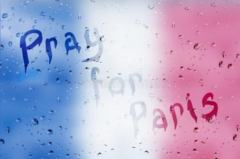 为巴黎祈祷 库存例证